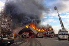 Lodge Fire Photos