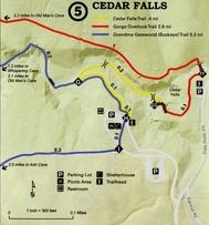 Cedar Falls Map
